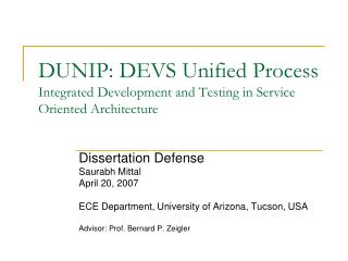 DUNIP: DEVS Unified Process Integrated Development and Testing in Service Oriented Architecture