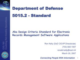 Aka Design Criteria Standard for Electronic Records Management Software Applications