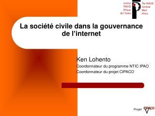 La société civile dans la gouvernance de l'internet