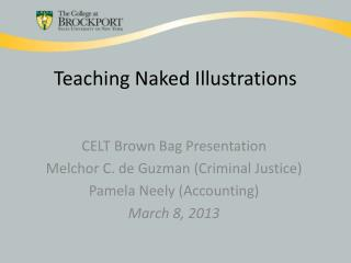 Teaching Naked Illustrations