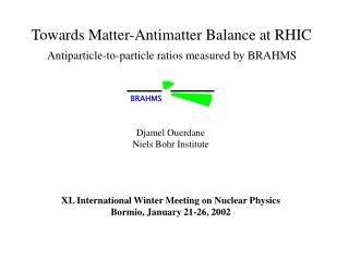 Towards Matter-Antimatter Balance at RHIC