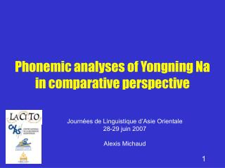 Phonemic analyses of Yongning Na in comparative perspective