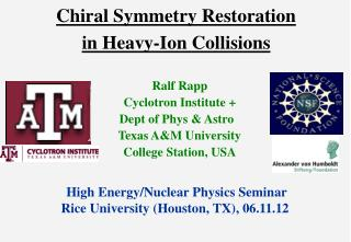 Chiral Symmetry Restoration  in Heavy-Ion Collisions