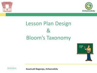 Lesson Plan Design  &  Bloom's Taxonomy