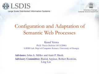 Configuration and Adaptation of Semantic Web Processes