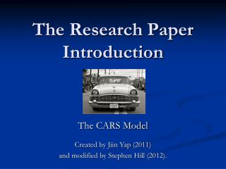 The Research Paper Introduction