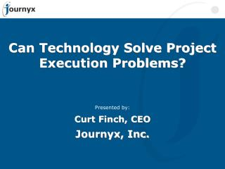 Can Technology Solve Project Execution Problems?