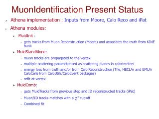 MuonIdentification  Present  Status