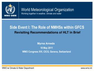 Side Event I: The Role of NMHSs within GFCS
