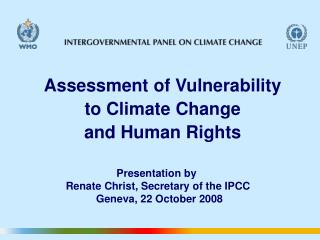 Assessment of Vulnerability  to Climate Change  and Human Rights