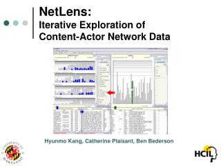 NetLens: Iterative Exploration of  Content-Actor Network Data