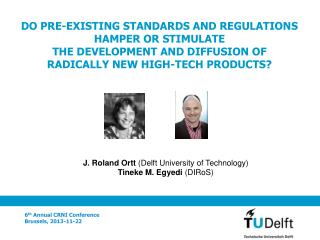 J. Roland Ortt  (Delft University of Technology)  T ineke M. Egyedi (DIRoS)