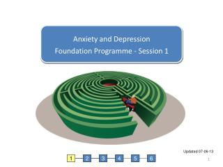 Anxiety and Depression Foundation Programme - Session 1