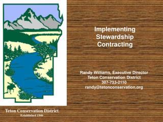 Teton Conservation District Established 1946