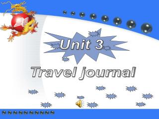 Unit 3 Travel journal
