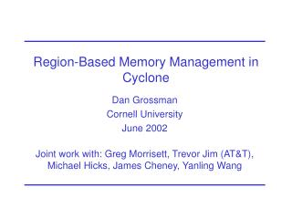 Region-Based Memory Management in Cyclone