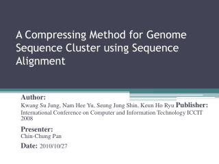 A Compressing Method for Genome Sequence Cluster using Sequence Alignment