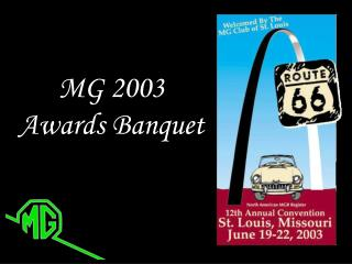 MG 2003 Awards Banquet