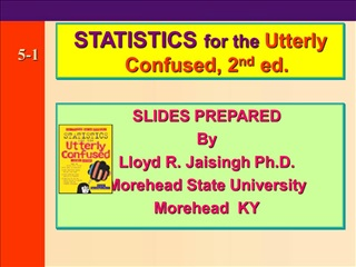 SLIDES PREPARED      By     Lloyd R. Jaisingh Ph.D.    Morehead State University    Morehead  KY