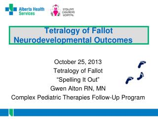 Tetralogy of Fallot   Neurodevelopmental Outcomes