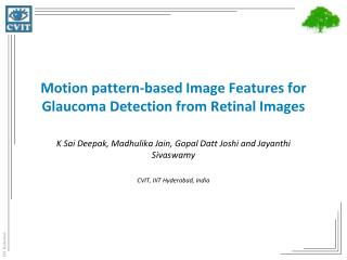 Motion pattern-based Image Features for Glaucoma Detection from Retinal Images