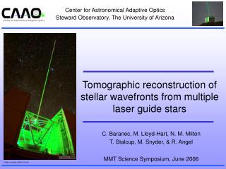 Tomographic reconstruction of stellar wavefronts from multiple laser guide stars