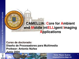 CAMELLIA:  C ore for  A mbient and  M obile int ELL igent  I maging  A pplications