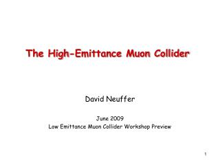 The High-Emittance Muon Collider