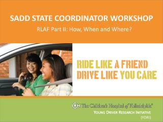 SADD state coordinator workshop