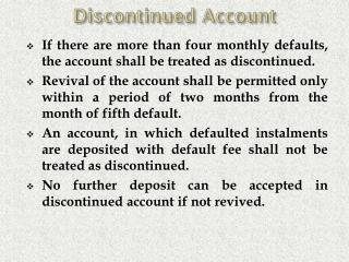 Discontinued Account