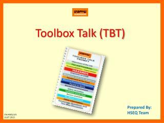 Toolbox Talk (TBT)