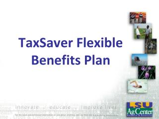 TaxSaver Flexible Benefits Plan