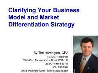 Clarifying Your Business Model and Market Differentiation Strategy