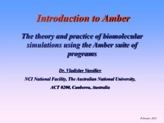 Introduction to Amber