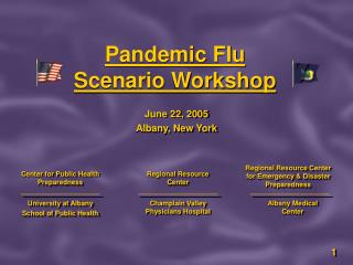 Pandemic Flu  Scenario Workshop