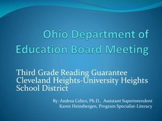 Ohio Department of Education Board Meeting