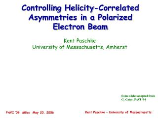 Controlling Helicity-Correlated Asymmetries in a Polarized Electron Beam