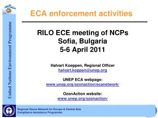 ECA enforcement activities