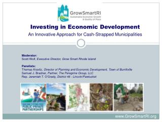 Investing in Economic Development An Innovative Approach for Cash-Strapped Municipalities