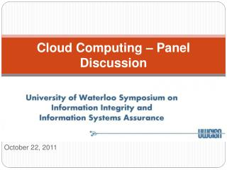 Cloud Computing – Panel Discussion