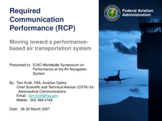 Required Communication Performance (RCP)