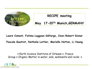 RECIPE meeting May  17-20 Th  Munich,GERMANY
