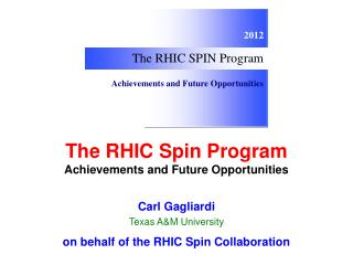 The RHIC Spin Program Achievements and Future Opportunities