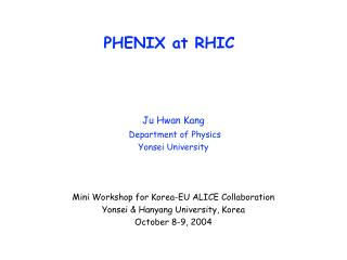PHENIX at RHIC