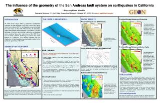 The influence of the geometry of the San Andreas fault system on earthquakes in California