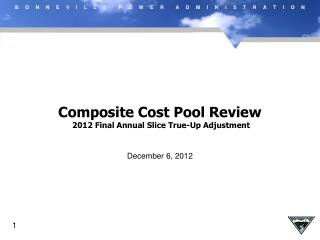 Composite Cost Pool Review  2012 Final Annual Slice True-Up Adjustment