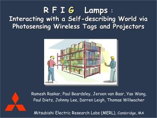 Radio Frequency Identification Tags (RFID)