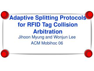 Adaptive Splitting Protocols for RFID Tag Collision Arbitration
