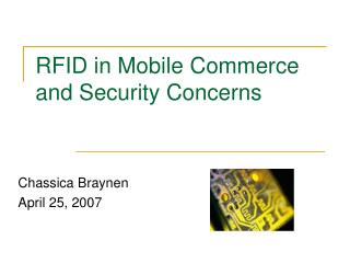 RFID in Mobile Commerce and Security Concerns
