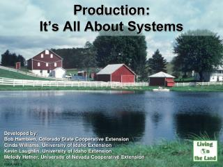 Production:  It's All About Systems
